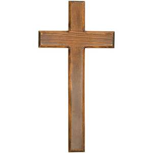 "18"" Dark Wood Wall Cross"