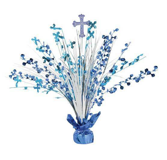 "18"" Communion Day Blue Spray Centerpiece"