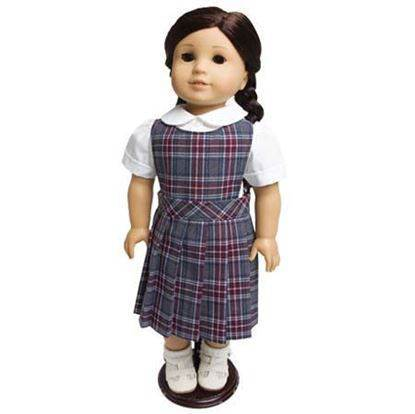 "18"" Doll Uniform Style #62, Pick Your Plaid"