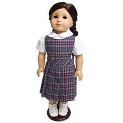 "18"" Doll Uniform Style #62, Pick Your Plaid  american girl uniform, american girl school uniform, 18"" doll school uniform, american girl plaid jumper, american girl plaid uniform, american girl doll dress, american girl clothes, american girl school clothes, american girl school uniforms, american girl doll dresses, american girl plaid dresses, sjf"