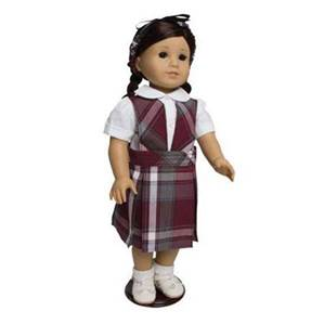 "18"" Doll Uniform Style #74, Pick Your Plaid"
