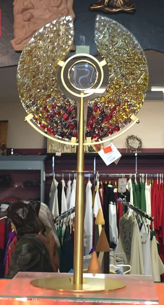 Modern Monstrance With Glass Made In Italy