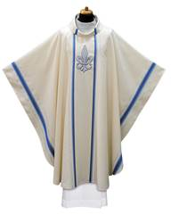 2-203 White Marian Chasuble