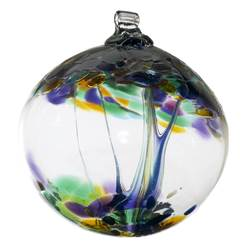 "2"" Blown Glass Blessings Ornament"