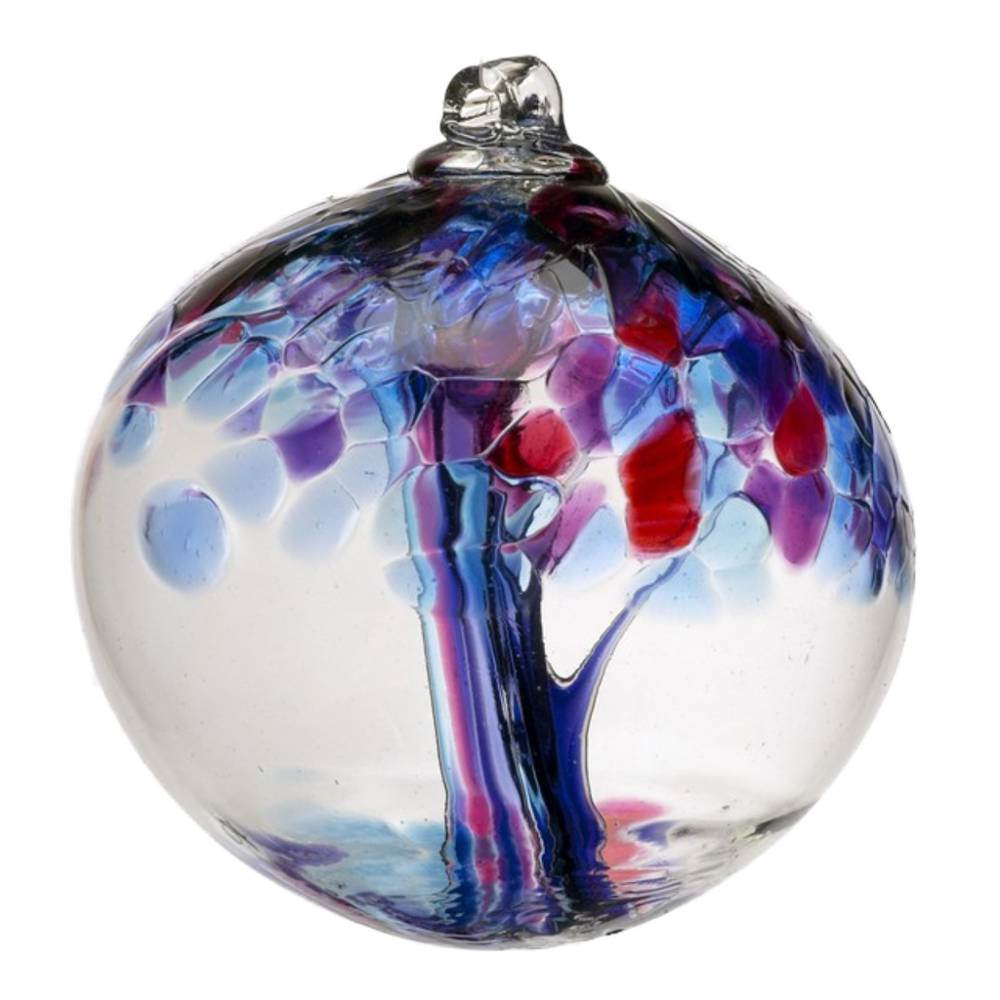 "2"" Blown Glass Faith Ornament"