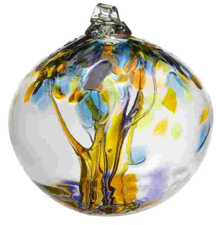 "2"" Blown Glass Joy Ornament"