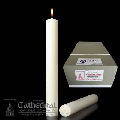 "2"" x 12"" Beeswax Altar Candles APE"