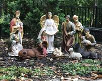 "20"" 12 pc Heavens Majesty Nativity Set with Removable Jesus *SOLD OUT; Pre-Order for Fall 2020* xmas15i, outdoor nativity, indoor nativity, color nativity, christmas gift, christmas decor, yard decor, church gift, church items, holy family,53314"