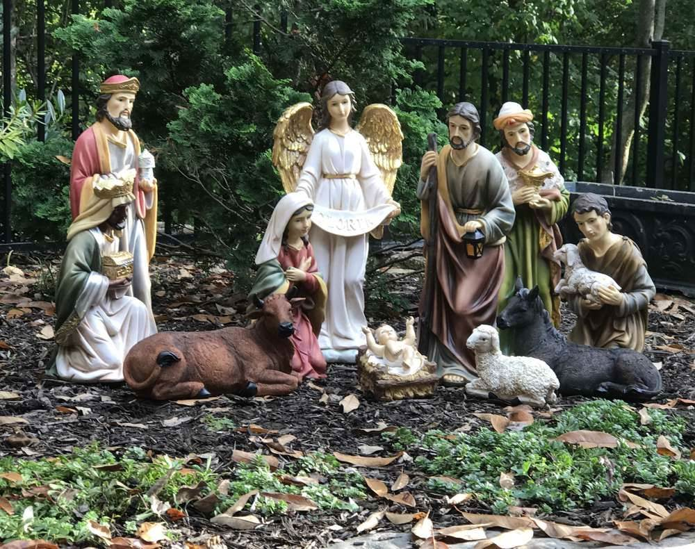 "20"" 12 pc Heaven's Majesty Nativity Set with Removable Jesus  - 53314"