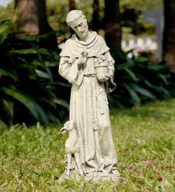 "20"" St. Francis Outdoor Statue st. francis statue, saint statue, fawn, deer,  outdoor figure, lawn and garden, 18851"