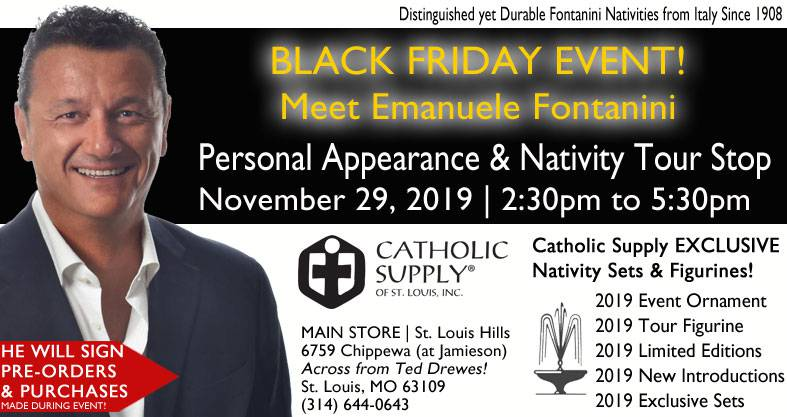 Emanuele Fontanini Personal Appearance Nativity Tour Stop Catholic Supply 2019