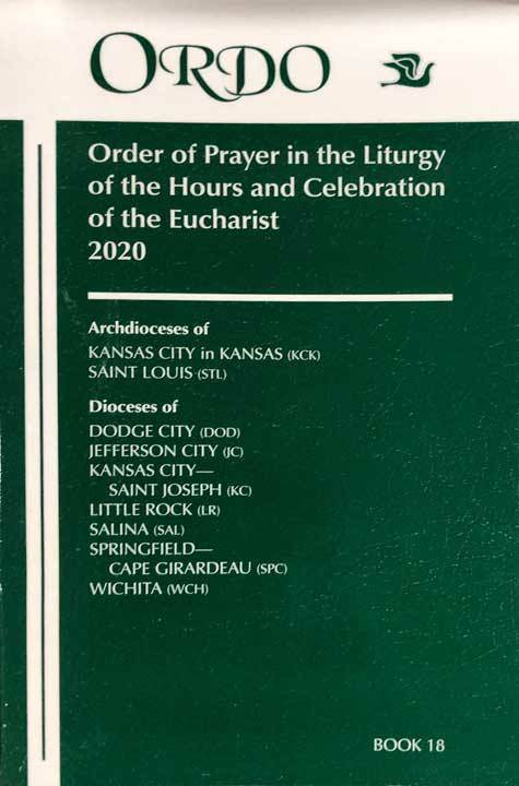 2020 Ordo: Order of Prayer in the Liturgy of the Hours and Celebration of the Eucharist