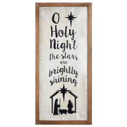 "24.75"" O Holy Night Framed Wall Decor"