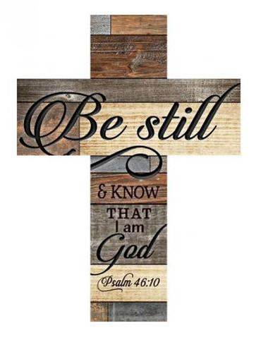 Be Still Wall Cross