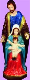 "24"" Holy Family Full Color Vinyl Indoor/Outdoor Statue"
