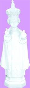 "24"" Infant Of Prague Vinyl, White Finish"