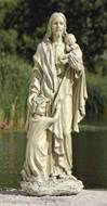 Jesus with Children Statue