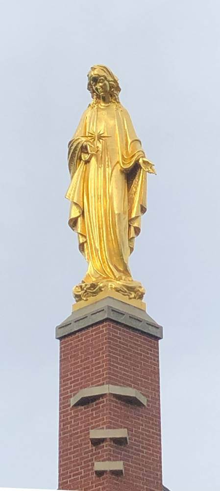24 Karat Gold Leaf Our Lady Star of the Sea Statue