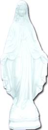 "24"" Our Lady Of Grace White Garden Statue"