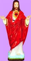 "24"" Sacred Heart of Jesus Full Color Vinyl Indoor/Outdoor Statue"