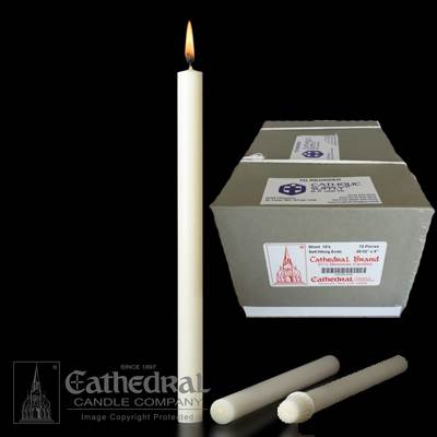 "25/32"" x 5"" Beeswax Altar Candles"
