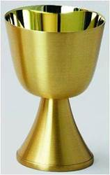 2581 Communion Cup Communion Cup, Chalice, Satin Gold Communion Cup, Distribution cup, congregational cup