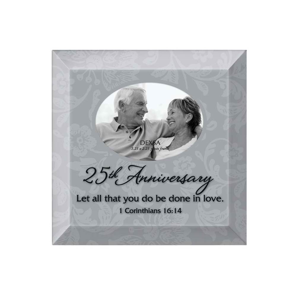 25th Anniversary Glass Photo Frame