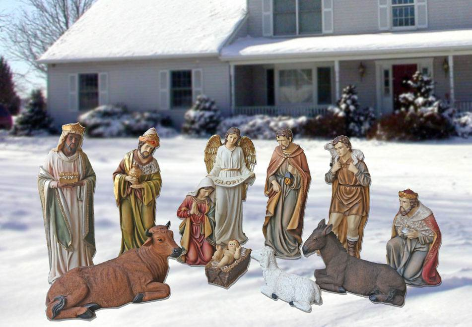 "27"" 12 pc Heaven's Majesty Nativity Set with Removable Jesus *SOLD OUT; ORDERS FOR FALL 2018 DELIVERY ACCEPTED NOW*"