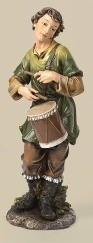"27"" Scale Drummer Boy Figure JS27, nativity set, christmas nativity, large nativity, outdoor nativity, indoor nativity, church nativity, home nativity, nativity drummer boy, joseph studio figures, 36490"