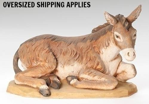 "27"" Scale Fontanini Seated Donkey"