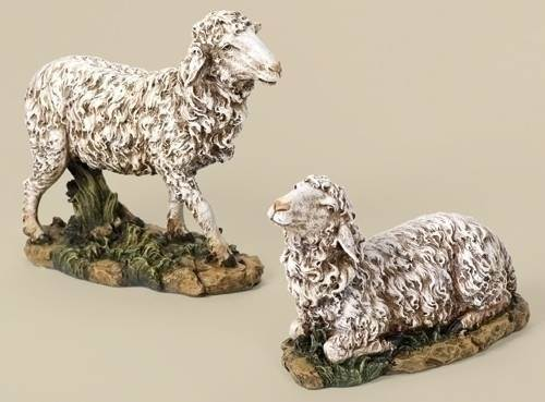 "27"" Scale Nativity Sheep(Set of 2) JS27, nativity set, christmas nativity, large nativity, outdoor nativity, indoor nativity, church nativity, home nativity, nativity animals, joseph studio figures, 35212, sheep, colored sheep"