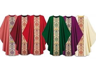 2749-0 Regina Gothic Chasuble in Dupion Fabric