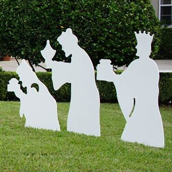 "28.75"" Marine Grade Outdoor Three Wisemen Set  - 21558"