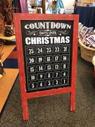 "28"" Countdown to Christmas Chalkboard Easel"