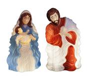 2 piece 28 inch lighted blow mold nativity set. Requires standard bulbs. Indoor/outdoor use.