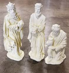"29"" - Three Kings Off-White   3 kings, outdoor nativity, figures, kings, wisemen, stone finish,"