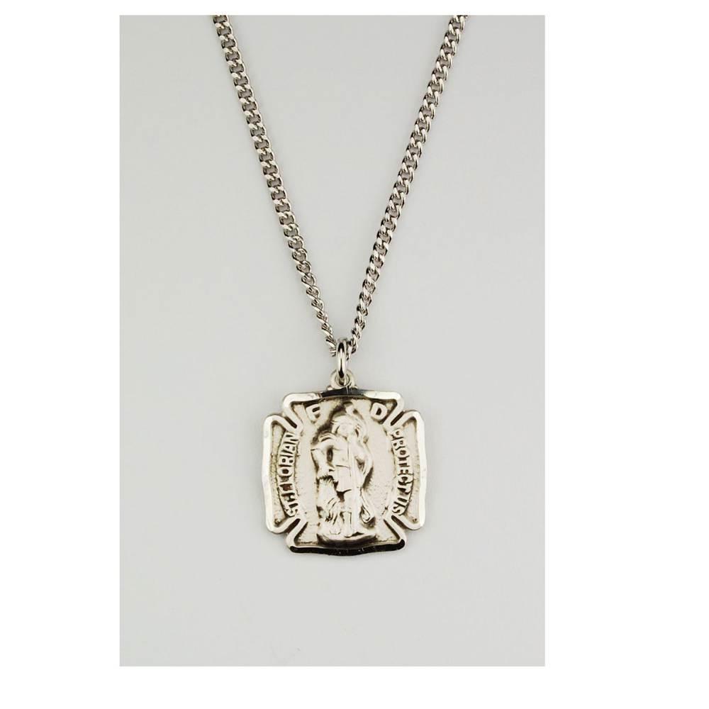 St Florian Necklace: Patron Saint Jewelry