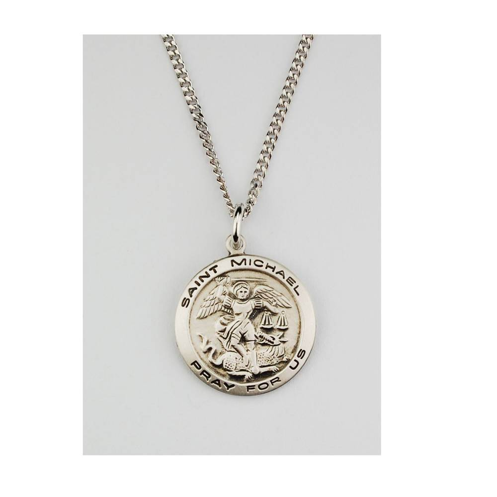 "3/4"" St. Michael Necklace"