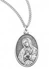 "3/4"" Sterling Our Lady Of Guadalupe Medal On 18"" Chain"
