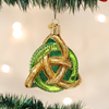 "3.5"" Irish Trinity Knot Glass Ornament"