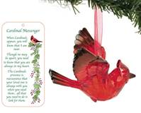 "3"" Acrylic Cardinal Ornament with Story Card Memorial Always Near"