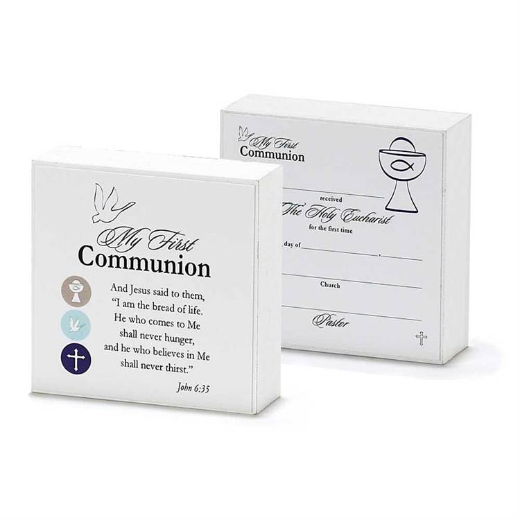 "3"" Double Sided First Communion Plaque"
