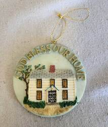 "3"" God Bless Our Home Ornament 