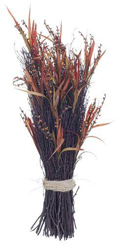 "30"" Large Faux Autumn Grass Stack"