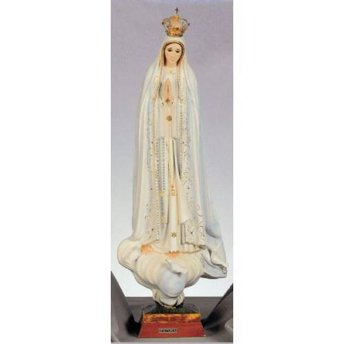 "30"" Our Lady of Fatima Statue with Jeweled Crown"