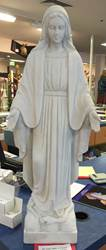"31"" Our Lady Of Grace Statue White Carrara Marble"