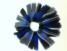 Plaid #32 Pom Pom Scrunchie *WHILE SUPPLIES LAST* hair accessories, hair band, hair tie, uniform accessory, plaid hair, ponytail holder,FBE40-32