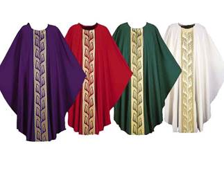 3321 Gothic Chasuble in Brugia Fabric