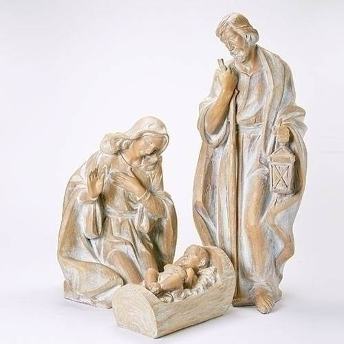"34"" Wood Carved Look Holy Family Set from Joseph's Studio"