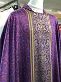 341 Damasco Chasuble 341,chasuble, vestment, sorgente, manantial, robe, white, red, green, red, catholic chasuble, sorgento